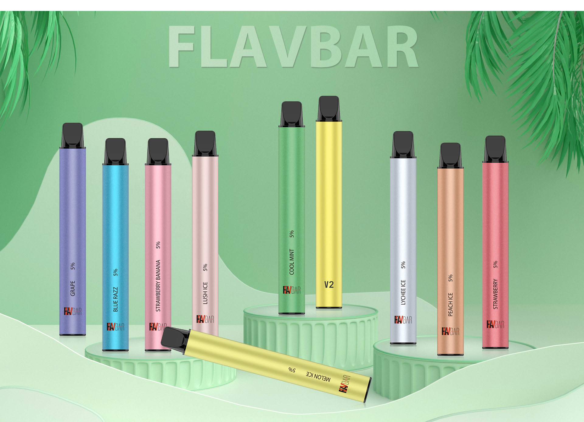 FLAVBAR v2 disposable device is the upgrade from the Flavbar v1.