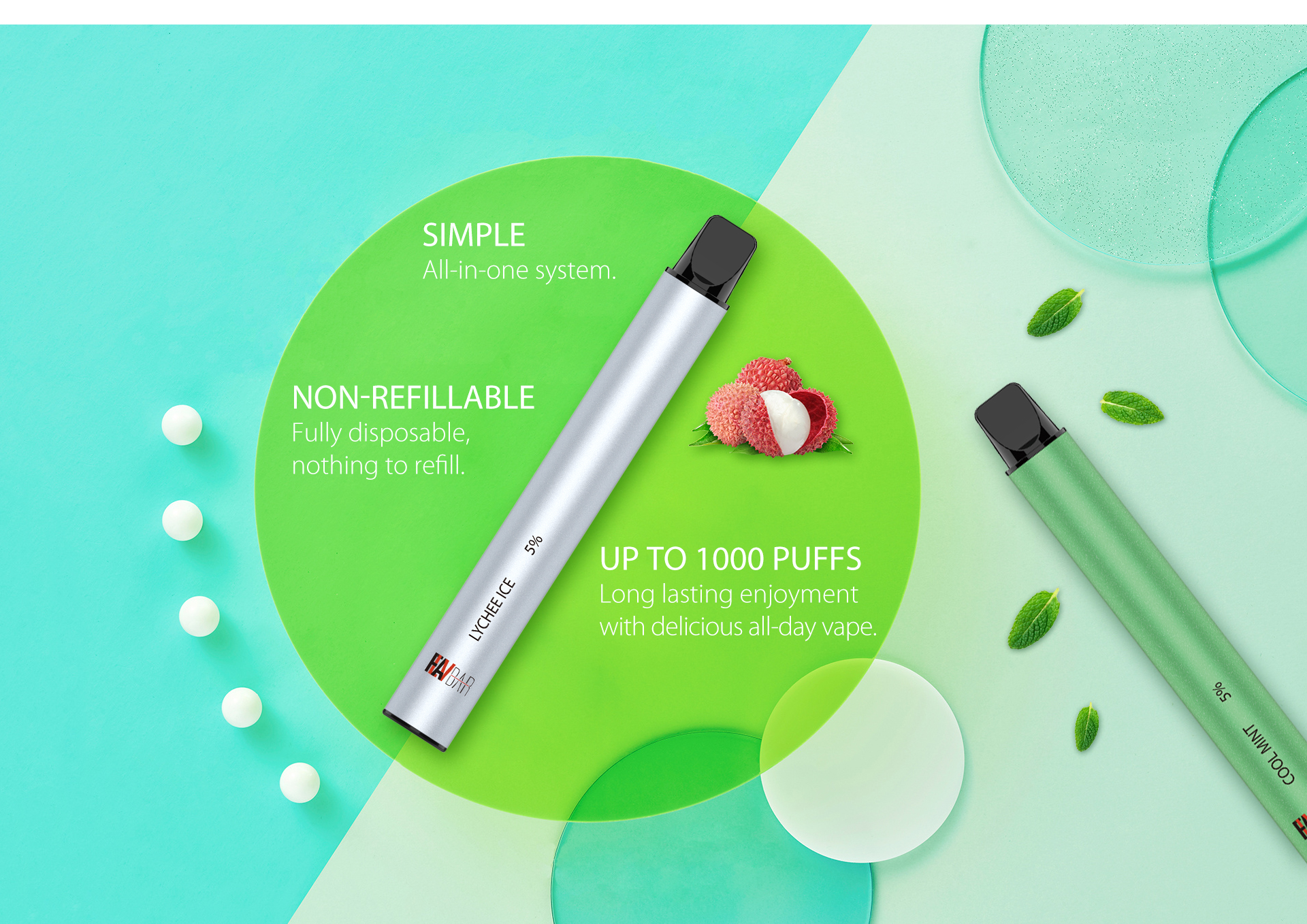 FLAVBAR v2 disposable device is fully disposable and nothing to refill.