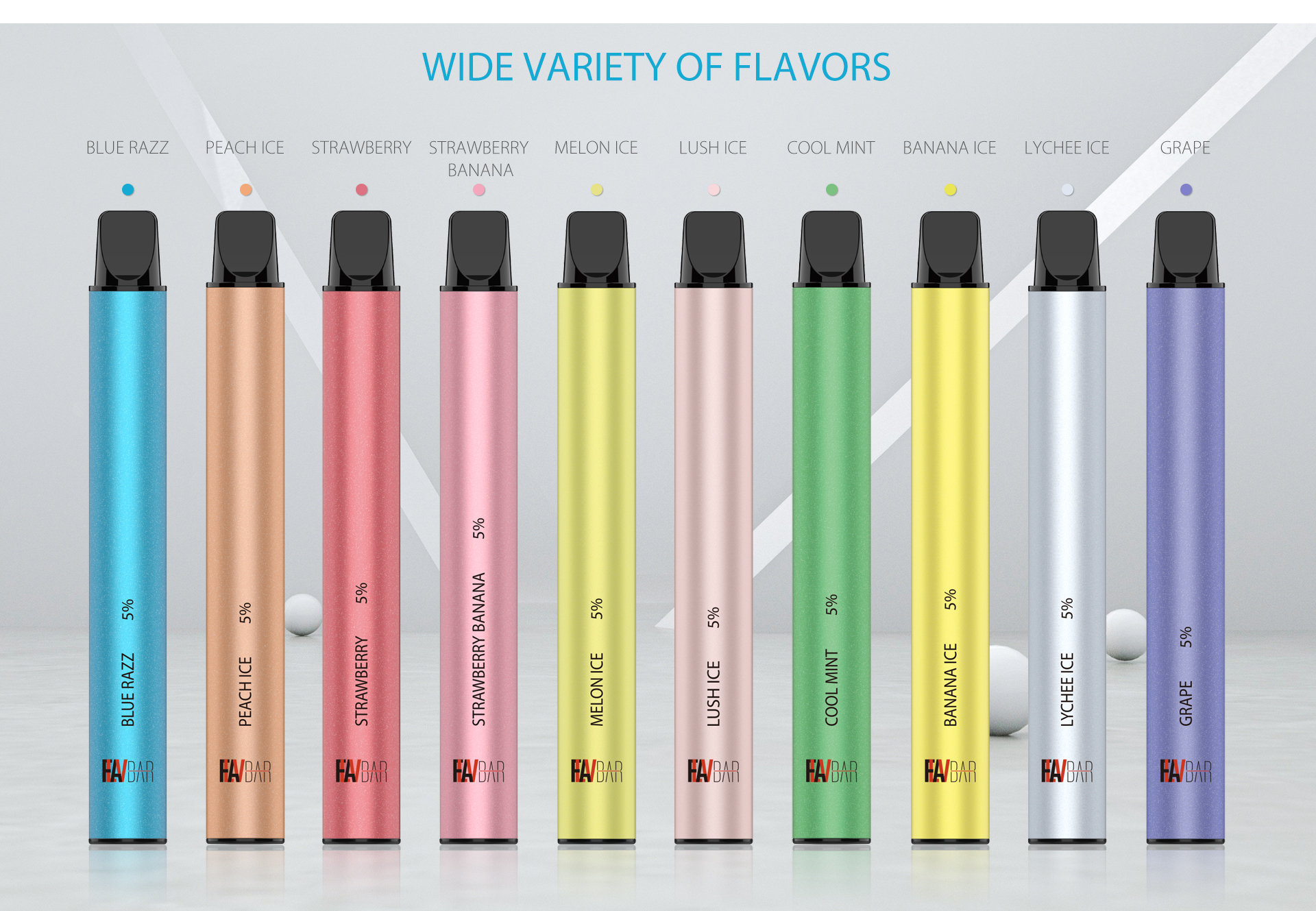 FLAVBAR v2 disposable device has ten awesome flavors.